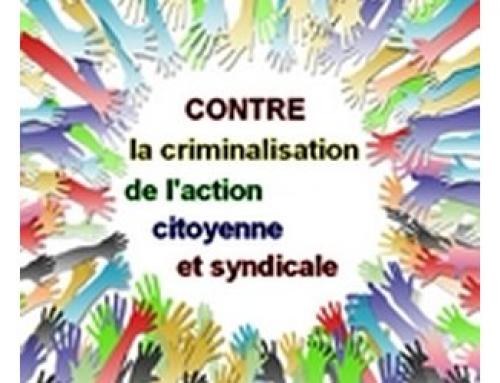 CONTRE LA CRIMINALISATION DE L'ACTION CITOYENNE : SOUTIEN À FLORIMOND GUIMARD (PE)